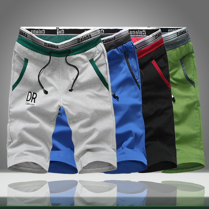 Summer Men Shorts Casual Loose Solid Drawstring Print Half Sweatpants Male Comfort Bodybuilding Workout Shorts Bermuda Masculina