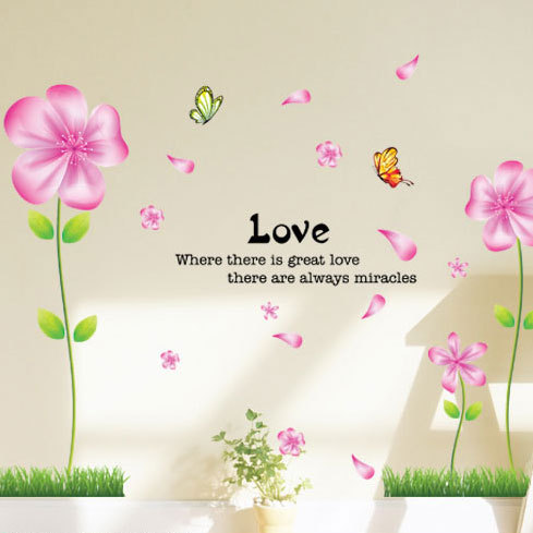 704 romantic living room tv wall stickers decoration sticker wall stickers