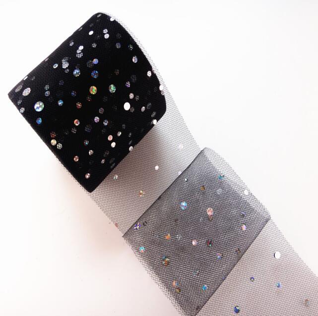 25 ярдов/рулон 6,5 см блеск рулон тюля с блестками Свадебные украшения кружева, тюль, платье-пачка «сделай сам» из органзы Baby Shower вечерние поставки - Цвет: AQ01