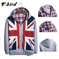 T Bird Hoodies Men Rice Word Flag Printing Cardigan Men S Hoodies Moleton Masculino Hip Hop