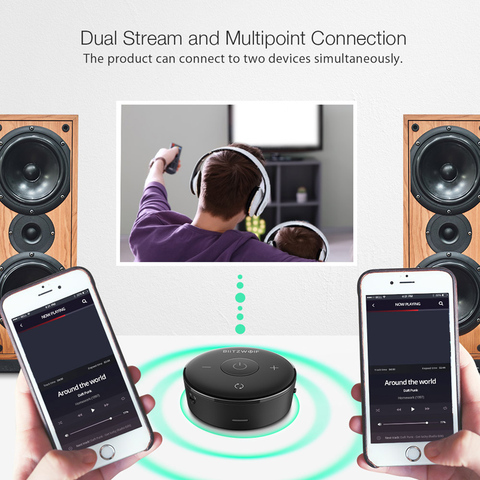 Blitzwolf BW-BR3 bluetooth 4.1 Audio Receiver Transmitter bluetooth Adapter for Headphones TV PC Speakers Wireless Audio Lahore