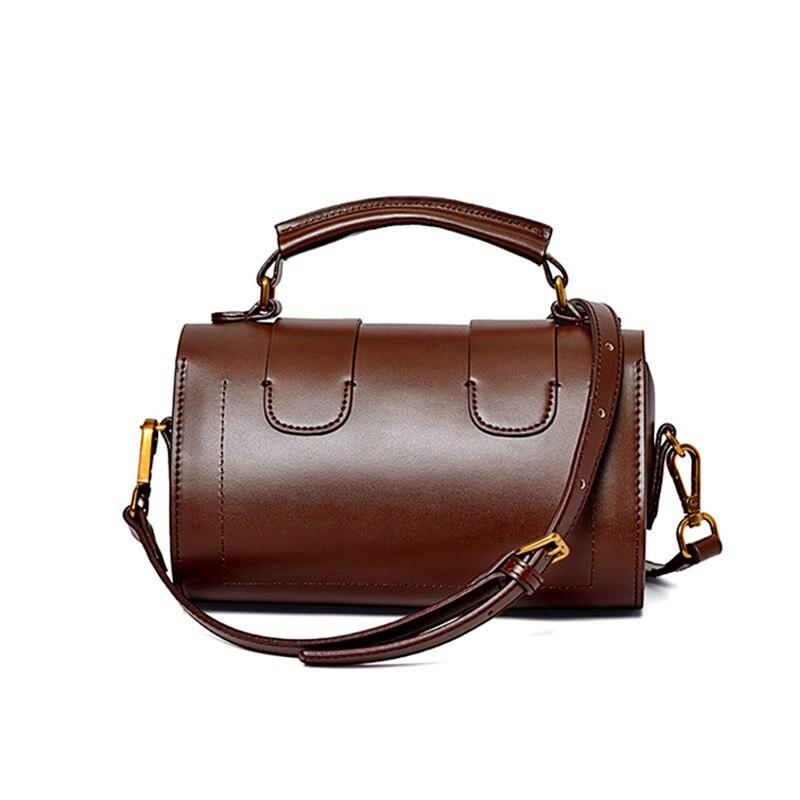 2019 Spring New Fashion Women single Shoulder Bag for female vintage Cowhide Genuine leather lady handbag Messenger Bag for girl