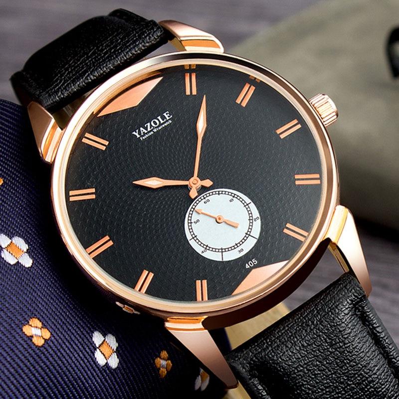 YAZOLE Top Brand Luxury Men's Watch Luminous Fashion Business Watch Men Watch Waterproof Wrist Watches Clock relogio masculino цена в Москве и Питере