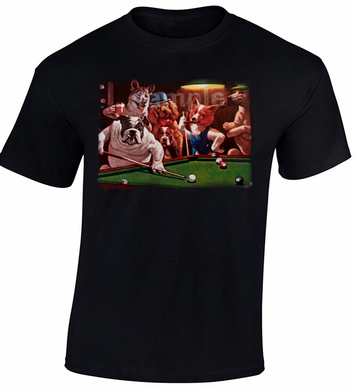 Buldog Billiards Men T Shirt New Design Printed Buldog Cool font b Geek b font Boys