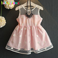 Summer Toddler Girls Dresses Baby Girls Dot Sleeveless Lace Princess Costume Dress Children Clothing Kids Clothes 0-7Year BC1117