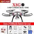 Fotografía aérea drone syma x8g quadcopter fpv en tiempo real de $ number megapíxeles wifi hd cámara con gran angular sin cabeza rc helicóptero toys regalo