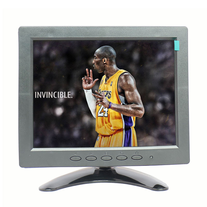 Factory derect selling 8 inch tft lcd monitor 4:3 screen ratio bnc cctv monitor with AV/BNC/VGA/GDMI/USB interface 8 inch lcd monitor color screen bnc tv av vga hd remote control for pc cctv computer game security