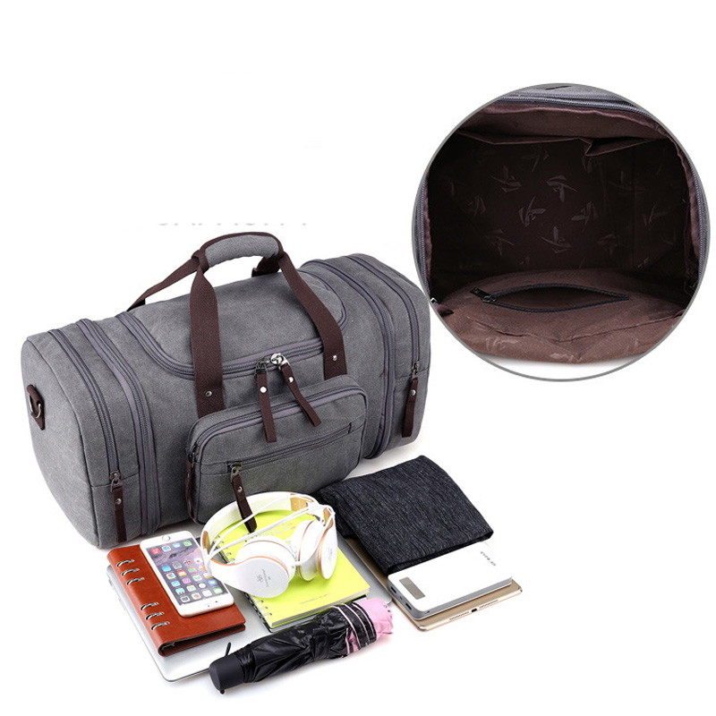 Bolsa de deporte de viaje para hombre de gran capacidad para llevar equipaje de mano, bolsas de lona de viaje, bolsas de viaje, bolsas de gimnasio de fin de semana grandes para hombres - 4