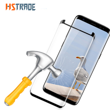 HSTRADE 9H Steel film For Samsung Galaxy S8 S8 Plus Full 3D Curved Front Protective Screen Protector Glass Film  For Samsung S8