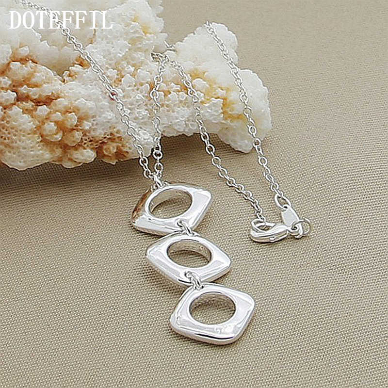 925 Silver Color Jewelry Brand Charm Necklaces Pendants For Men Women With Chain New Fashion Statement Necklace