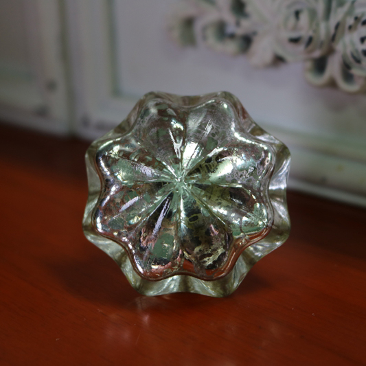 Victorian Style Crystal Glass Drawer Cupboard Knobs Closet Dresser Knob Pull Cabinet Door Handle Hardware Inner electroplated