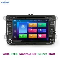 Aoluoya RAM 4GB 8 Core Android 8.0 CAR Radio DVD GPS PlayerFor VW Volkswagen golf 5 6 Polo Passat Tiguan Jetta EOS sharan Touran
