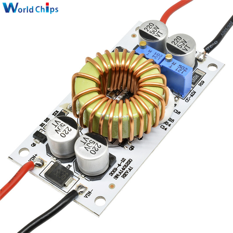 10A Max 250W Adjustable DC Step Up Boost Converter Power Supply LED Driver