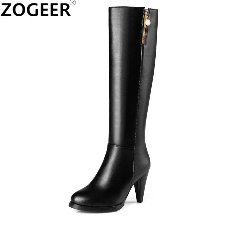 Plus size 45 2018 Autumn Winter New Fashion Women's Boots High Heels Knee High Boots PU leather Black Zipper Ladies Shoes Woman hame a5 3g wi fi ieee802 11b g n 150mbps router hotspot black