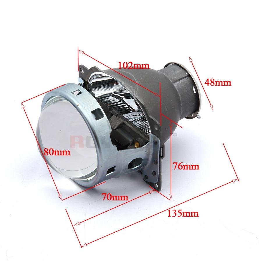ROYALIN Voiture Q5 Phares Halogène Lentille Bixenon H7 Métal Projecteur 12 v LHD RHD pour Automobiles D2S D2R Externe Lampes rénovation - 3