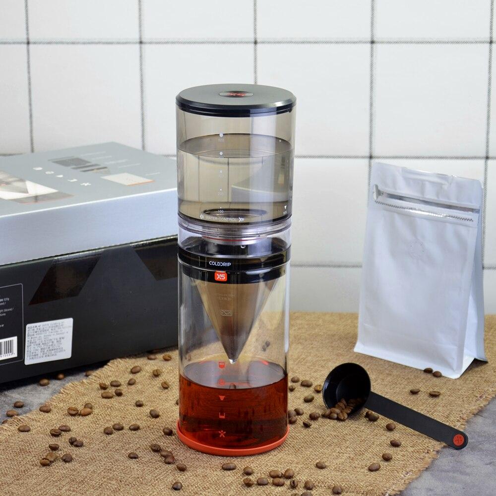 Household water drip cold coffee maker X5 Cold brew coffee machine Dutch coffee dripper 500mlcoffee/tea glass pot cold tea
