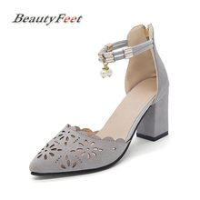 BeautyFeet 2018 Summer Women Shoes Pointed Toe Sandals Dress Shoes High  Heels Boat Shoes Wedding Shoes 0d0018e2c457