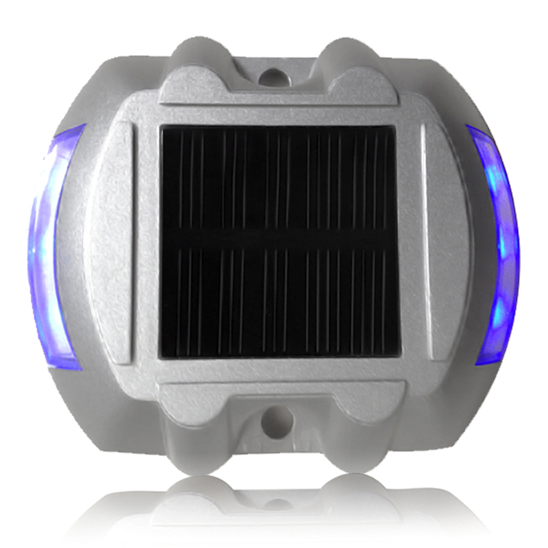 6 LED Solar Powered Security Lights Blue ...