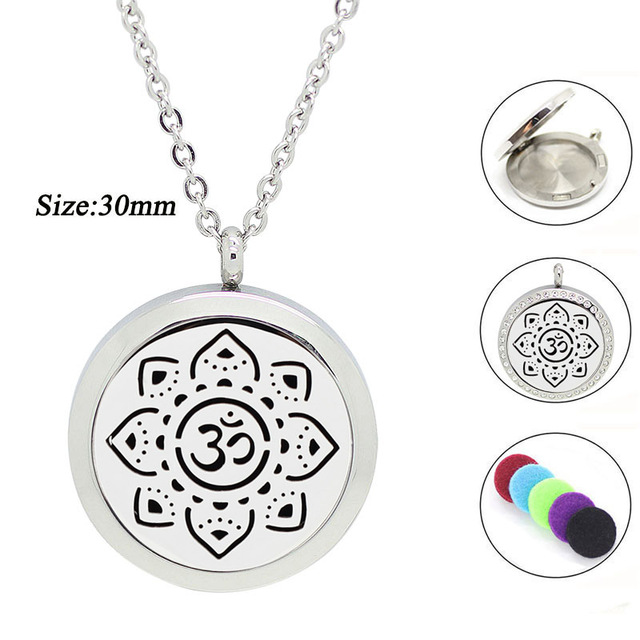 New arrival 30mm magnetic aroma pendant 316l stainless steel 30mm magnetic aroma pendant 316l stainless steel essential oil diffusing necklace perfume locket aloadofball Images