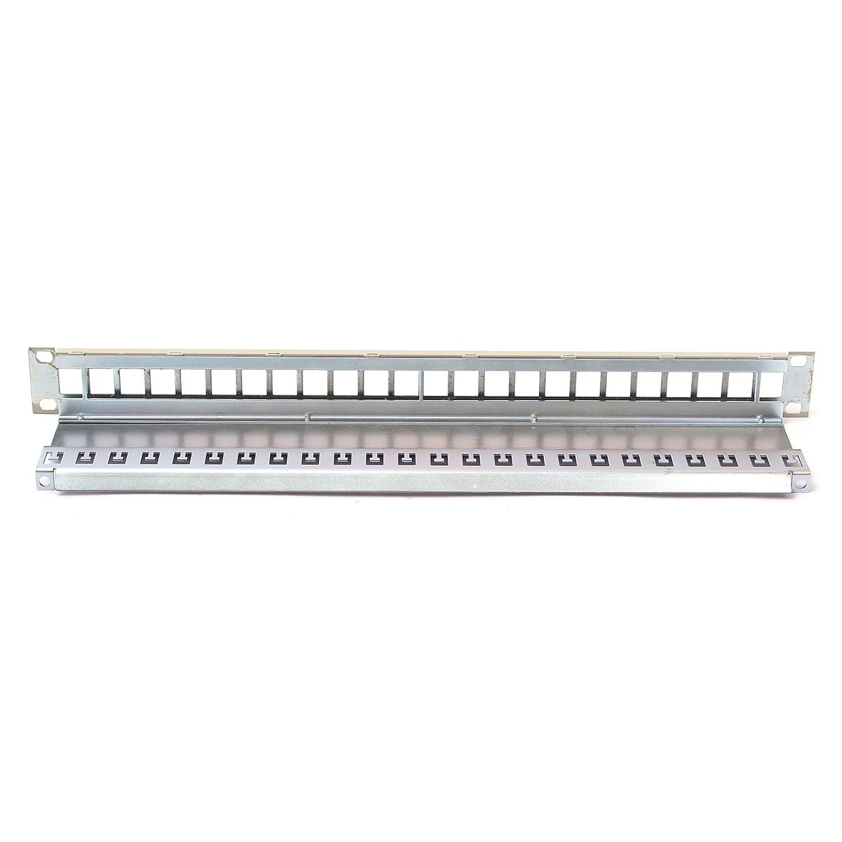 Leory 48 Port Cat5e Rj45 110 Network Ethernet Rack Mount 2u 2ru Two 19inch Cat6 Utp Patch Panel T568a T568b Wiring 1ru Termination 24 Empty Six Shielded Modular Panels Blank Frame With Cable Manager
