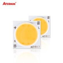 Cob Светодиодная лампа с чипом 3 Вт 5 7 9 20 30 220 В керамический