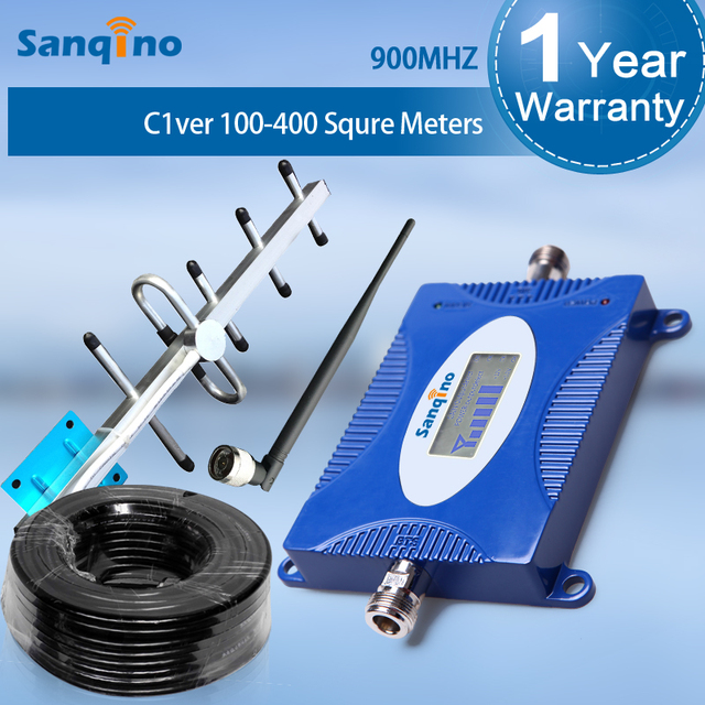 Sanqino signal band full kit GSM 900Mhz cellular signal booster GSM Amplifier +Yagi Antenna for home
