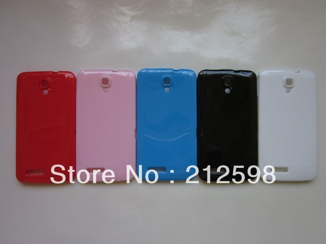 20 pcs/lot,  Free SHIPPING,Candy Color TPU Case for Alcatel One Touch Scribe HD, OT-8008D, OT 8008D