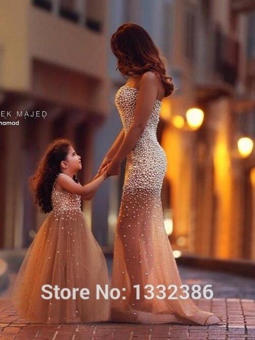 55New Bronze Mother Daughter Formal Dresses Floor Length Evening Dresses  Gown With Heavy Pearls  Disp PR 2 PCS on Aliexpress.com  ea4d1d1db8f5