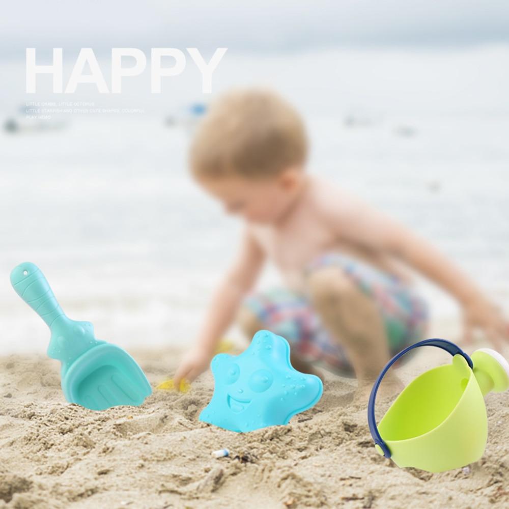 Beach Toy Set Children Summer Silicone Shovel Tool Kit