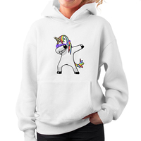 2018 Unicorn Women Autumn Winter Soft Long Sleeve Hooded Unicorn Print Hoodies Sweatshirt Pullover Tops Drop