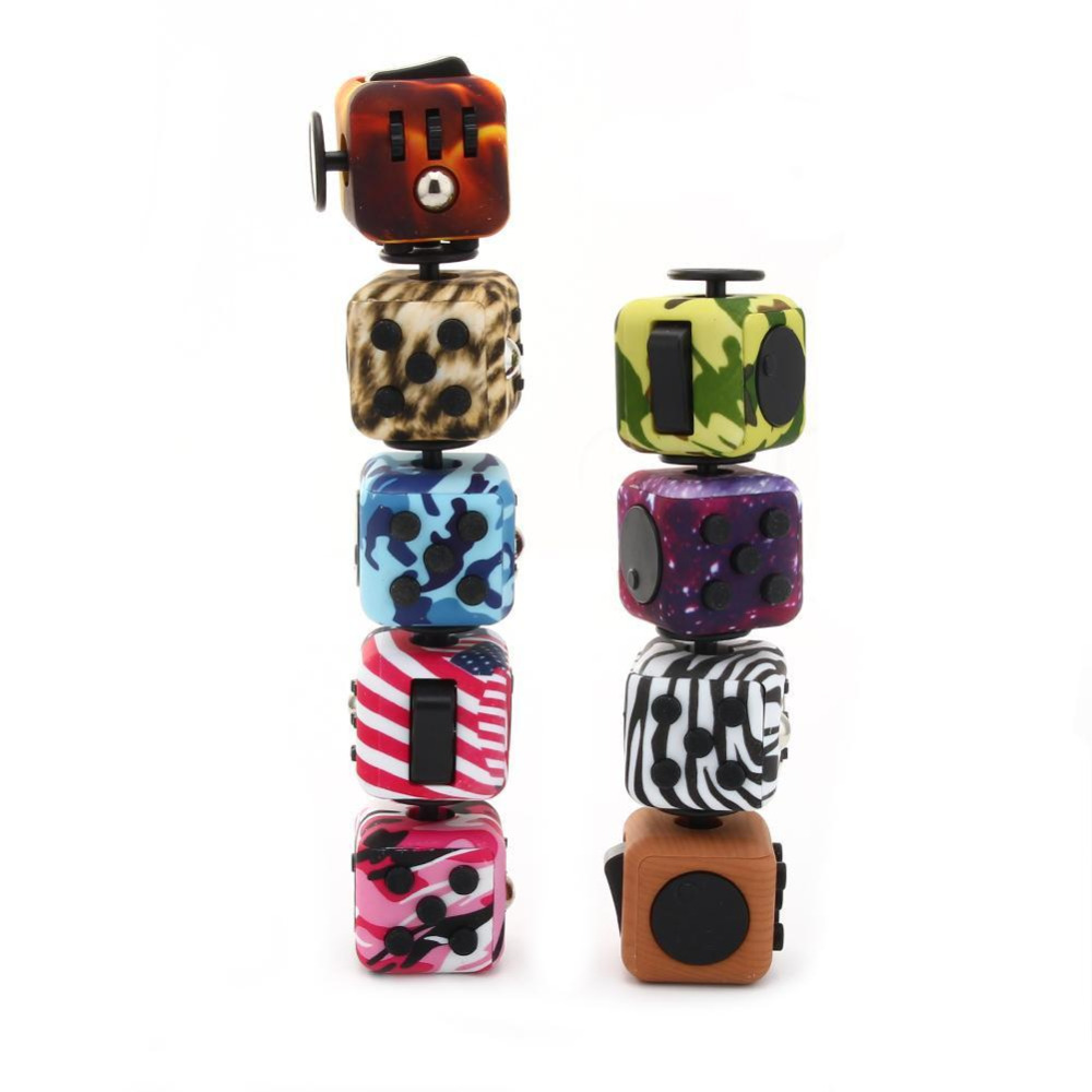 Vitoki Fidget Cube High Quality Silicone Buttons Camouflage Magic Cube Toy Fidget Anti Stress Puzzle Fidget Spinner Toys Gift infinity cube new style spinner fidget high quality anti stress mano metal kids finger toys luxury hot adult edc for adhd gifts