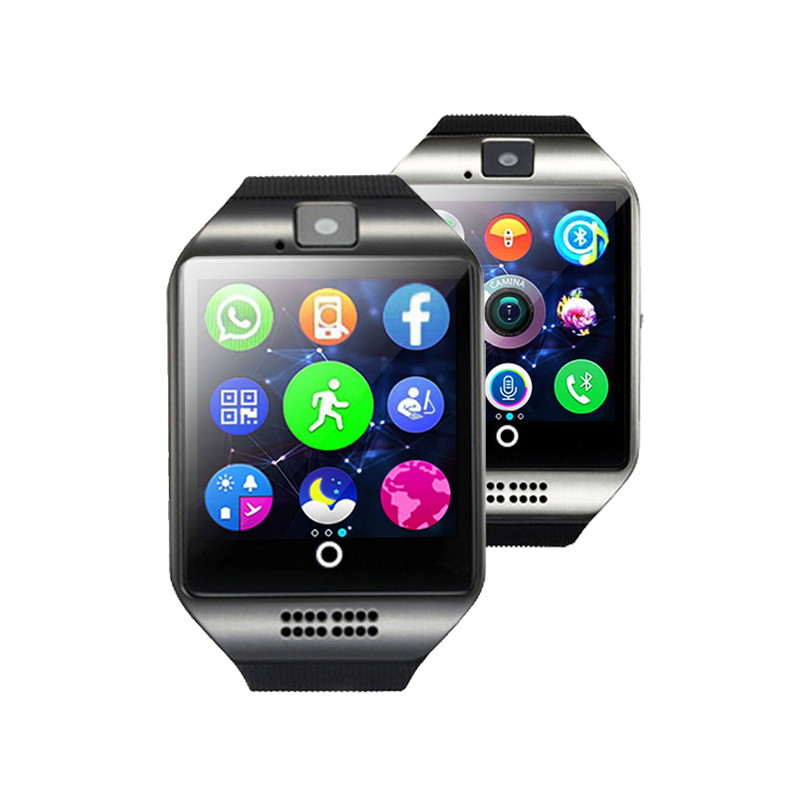 Fashion Smart Watch Clock With Sim Card Slot Push Message Bluetooth Connectivity Android font b Phone