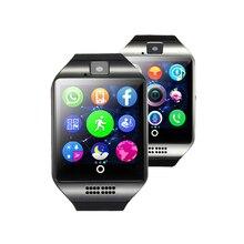 Модные Смарт часы с Сим слот для карт нажмите сообщение Bluetooth Подключение Android телефон лучше, чем Q18 Smartwatch