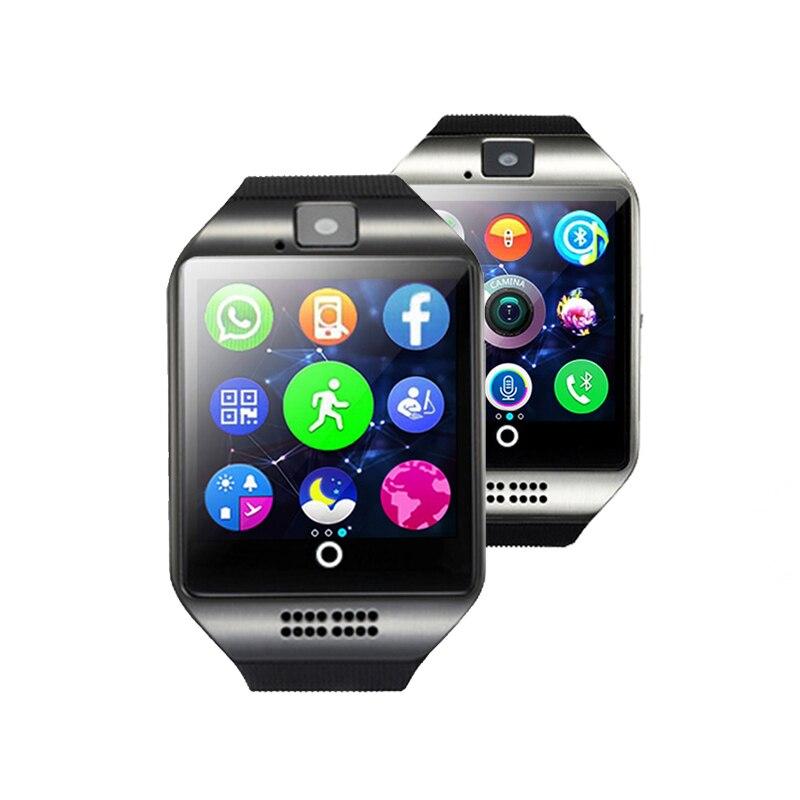 Intelligente Vigilanza di modo Orologio Con Slot Per Schede Sim Push Messaggio Connettività Bluetooth Android Phone Meglio di Q18 Smartwatch