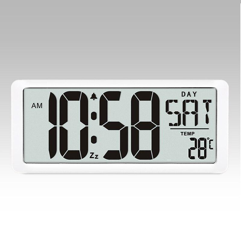 Série d'horloge murale carrée TXL, grand réveil numérique Jumbo 13.8