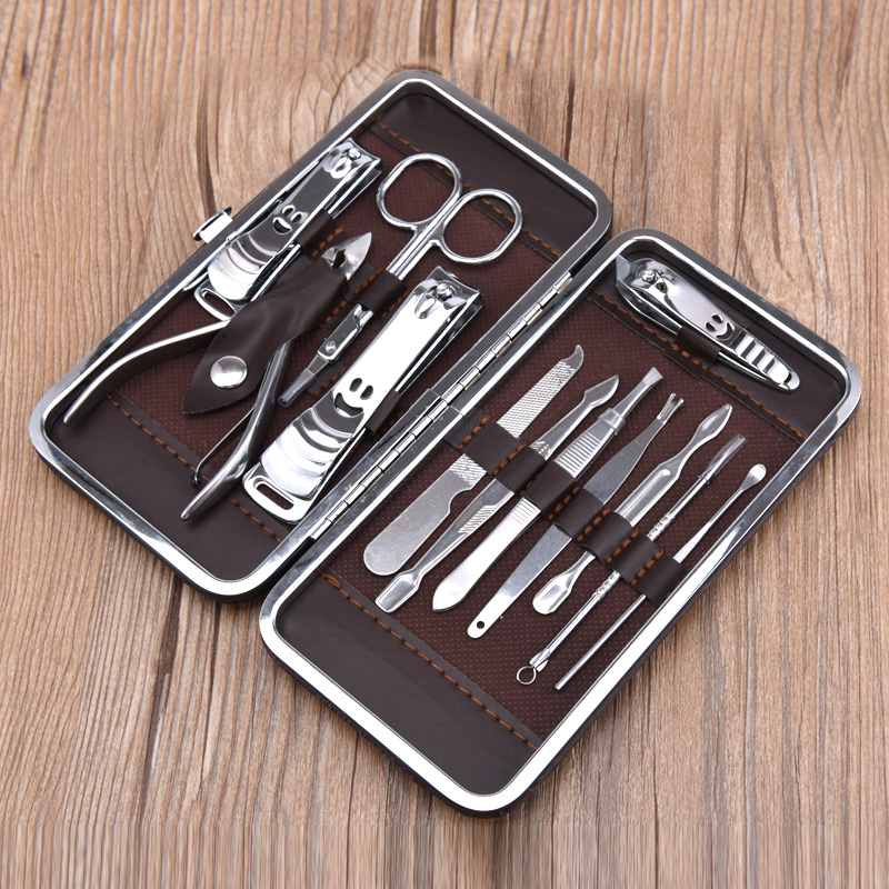 ANHO Personal Care Tools Storage Box 12 pcs Mini Pedicure Manicure ...