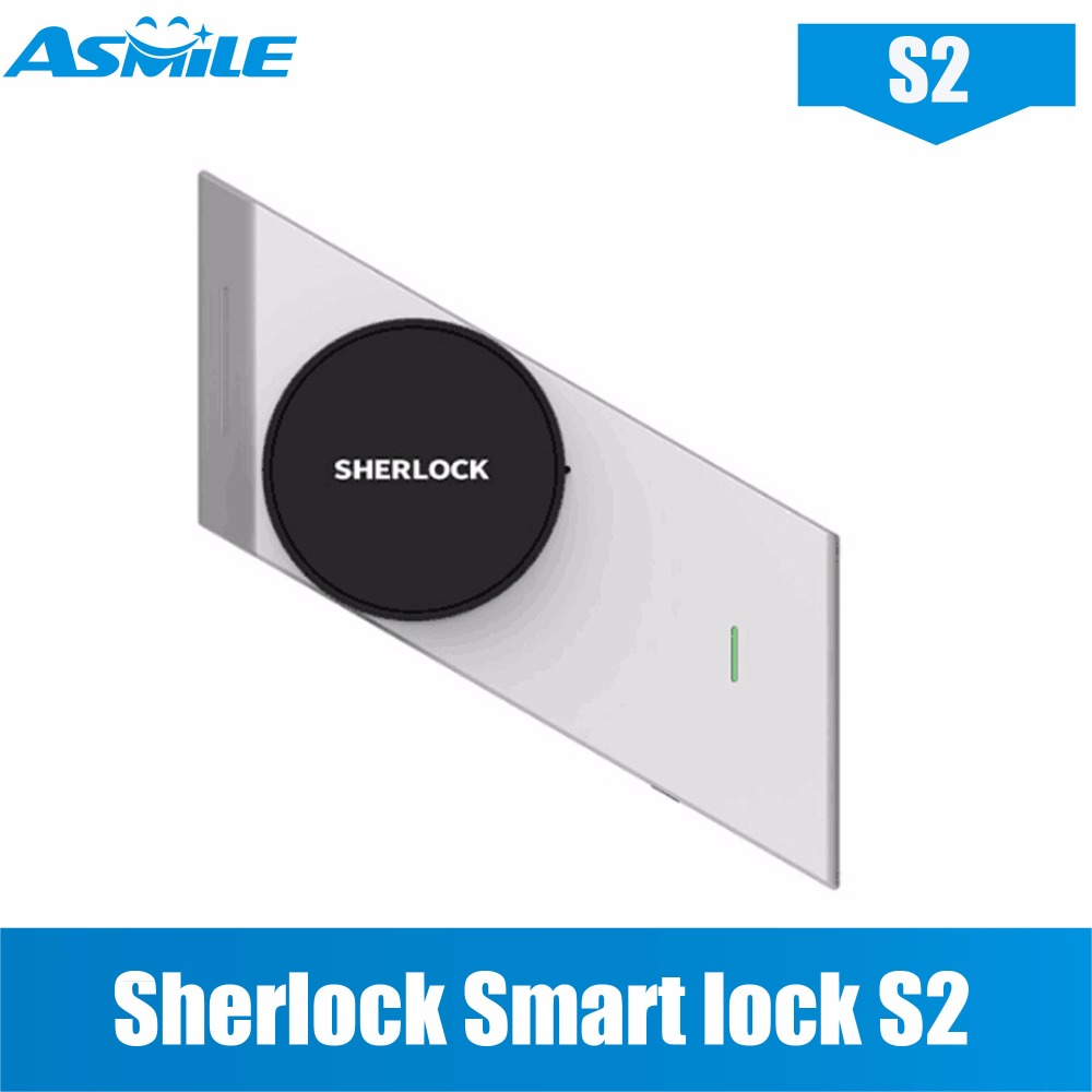 купить Hot In Stock Xiaomi Sherlock Smart lock S2 mijia Smart door lock Keyless Fingerprint+Password work to Mi home app phone control по цене 516.78 рублей