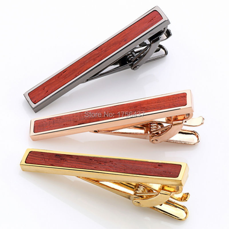 Low key Luxury Tie Bar Wood For Mens Tie clips Lepton Brand High quality Red Rosewood