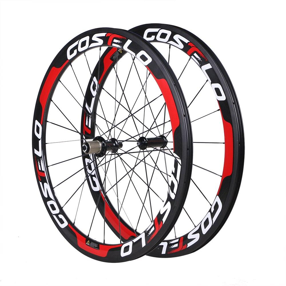 2017 Carbon wheels Road font b Bike b font Wheelset 50mm Carbon Wheels 25mm Clincher tubular