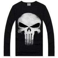 New Fashion Men S 3D Skull Printed Long Sleeve T Shirts Spring Autumn Men Rock Roll
