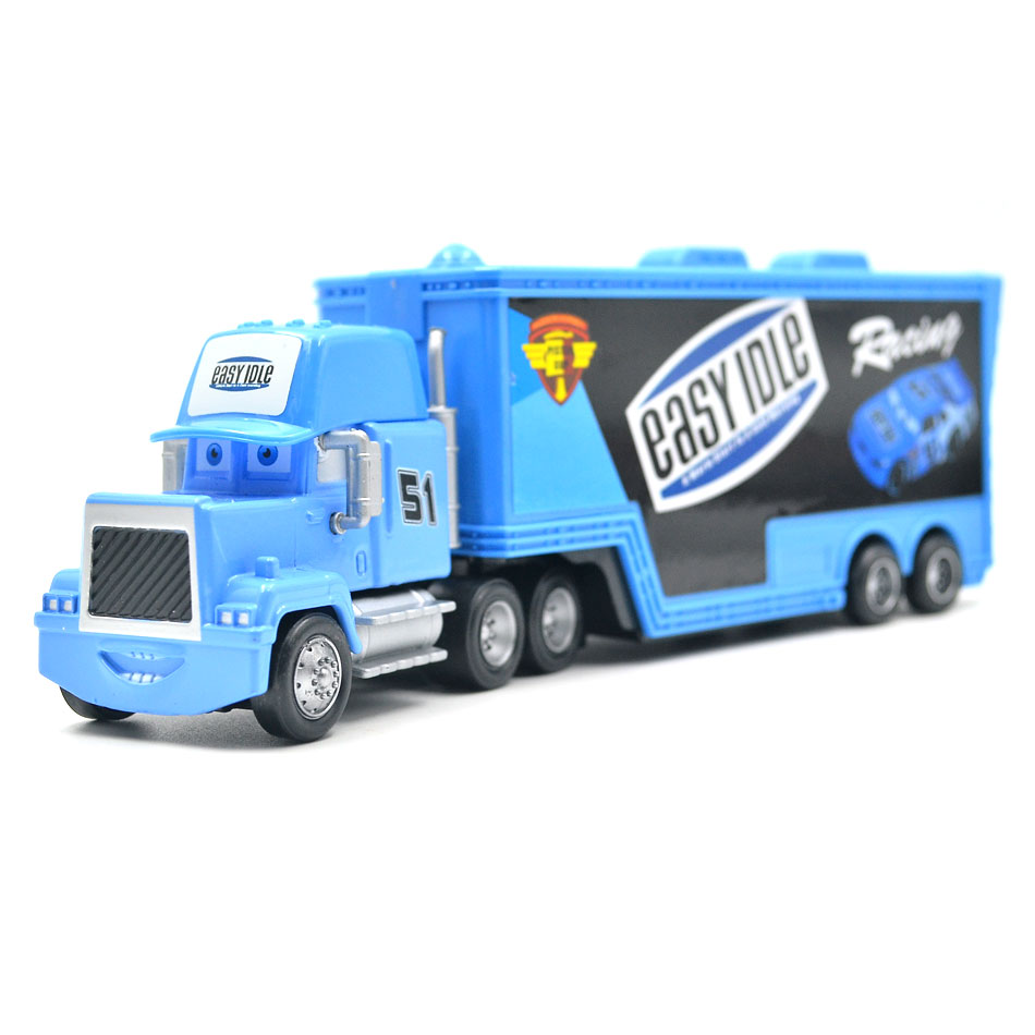 Makina Disney Pixar 3 9 Stilet Mack Truck McQueen Uncle 1:55 Dioqast - Makina lodër për fëmije - Foto 4