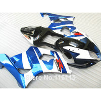 ABS motorcycle fairing kit for SUZUKI Injection molding GSXR1000 K3 K4 2003 2004 white blue black fairings GSXR 1000 03 04 AP66