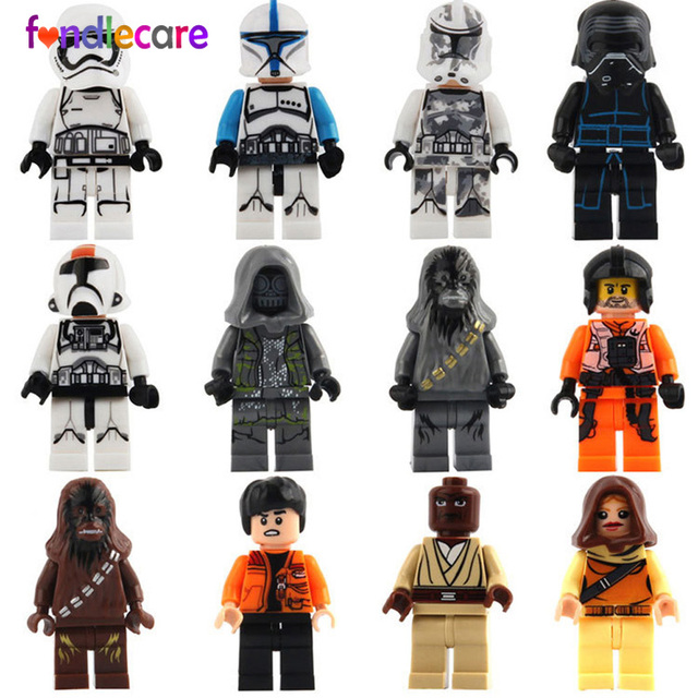 12pc Star Wars Action Figures Mini black series toy Darth Vader ...