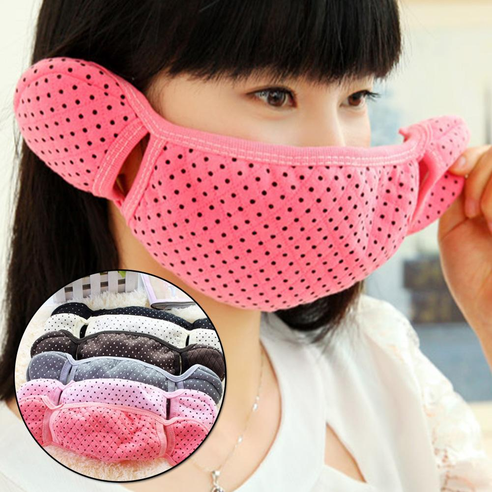 New Listing 3 In 1 Winter Outdoor Warm Anti-Dust Mouth Face Mask Earmuff Ear Warmer Cute Cover