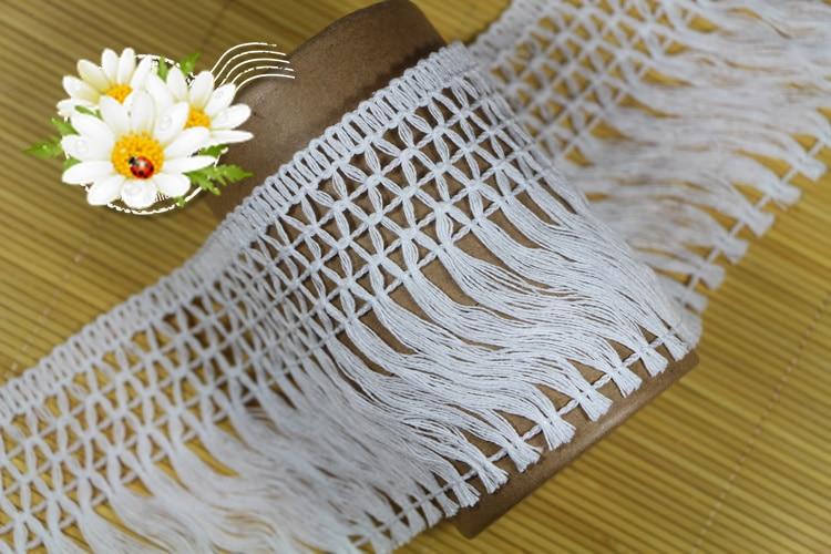 10 Yard 10 CM Breite Hallow Out Baumwolle Material Band Spitze Quaste - Kunst, Handwerk und Nähen - Foto 3
