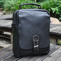 NEWEEKEND 5066 Business Genuine Leather Oil Cowhide Slight Handbag Messenger Shoulder Crossbody Laptop iPad Bag for Man