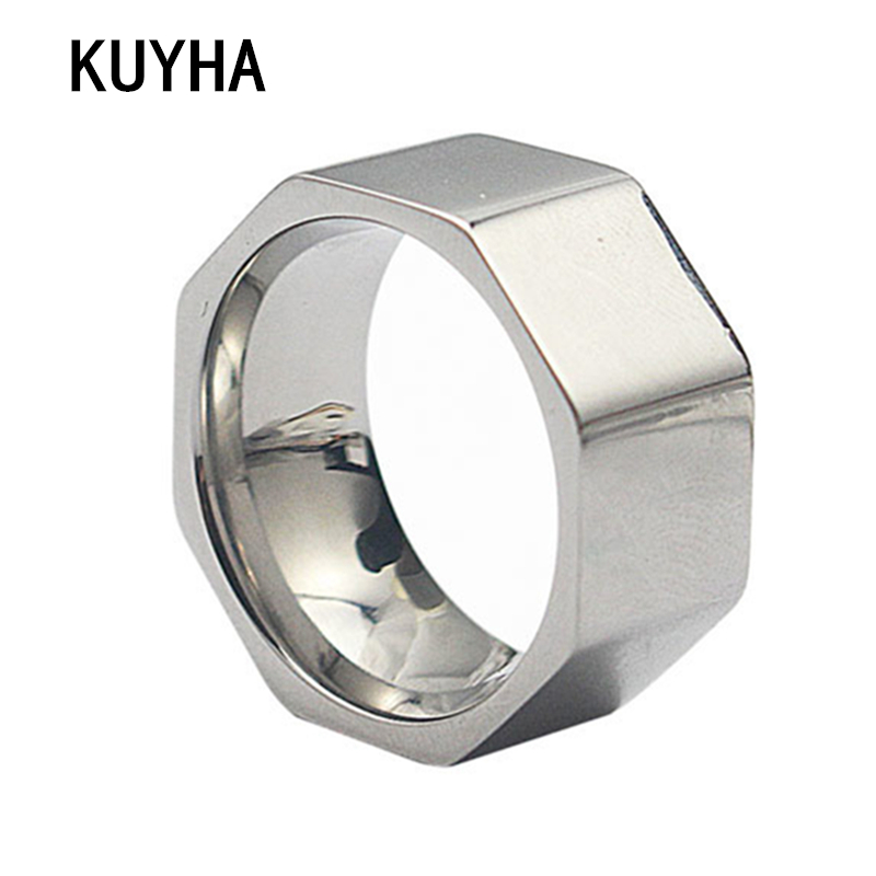 Nut Finger Ring Stainless Steel Ring Women Fashion Jewelry Ring Best Gift Wide Silver Irregular Ring for Women