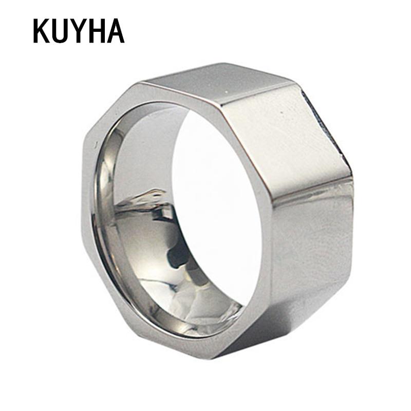 Kacang Cincin Jari Cincin Stainless Steel Wanita Fashion Jewelry Cincin Hadiah Terbaik Lebar Perak Tidak Teratur untuk Wanita