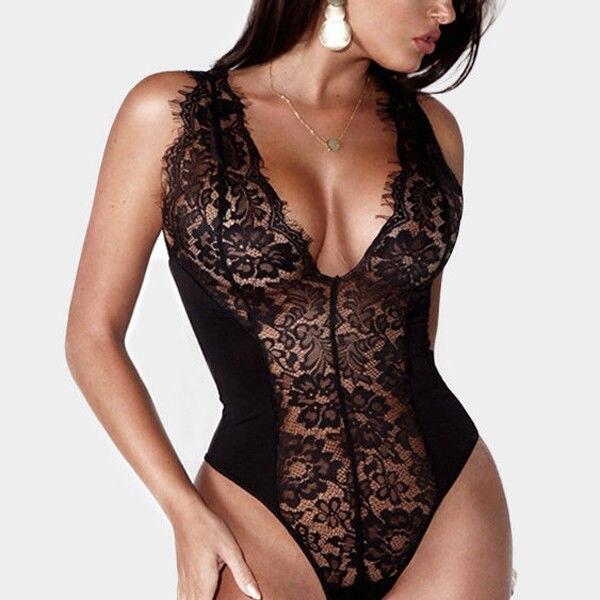 New 2018 Women Sexy Lingerie Nightwear Sleepwear Bodysuits Babydoll Lace  Bodysuits Underwear 8ccbd7c2b