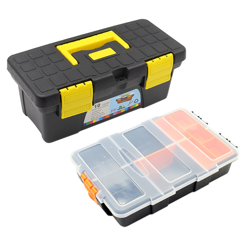 10 Inches High-capacity Plastic Electronic Component Box Jewelry Screw Sewing Transparent Category Tool Case